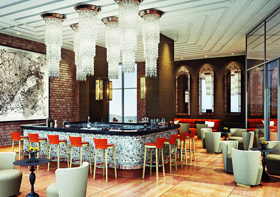 ITC Kohinor skybar,comissioned by Design Wilkes .
