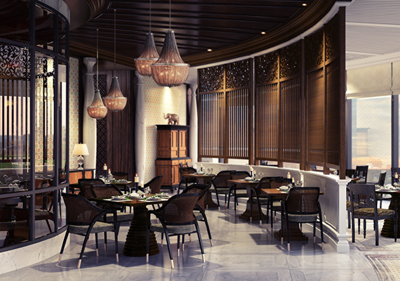 ITC colombo ceylon dining,comissioned by Design Wilkes .